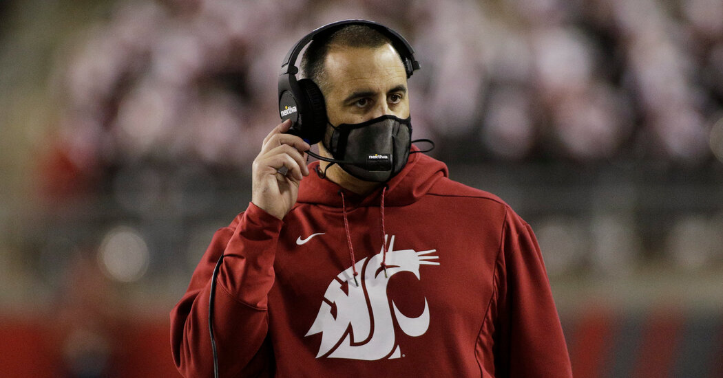 Washington State Fires Football Coach for Refusing to Get Vaccinated